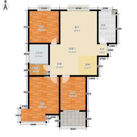 翡翠明珠3室1厅1卫1厨239.00㎡户型图