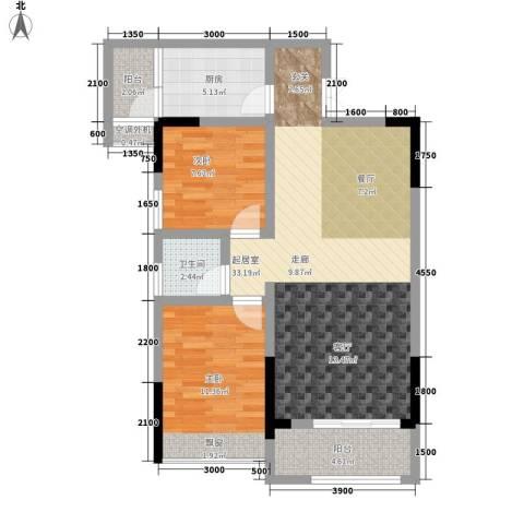 鑫城名都2室0厅1卫1厨97.00㎡户型图