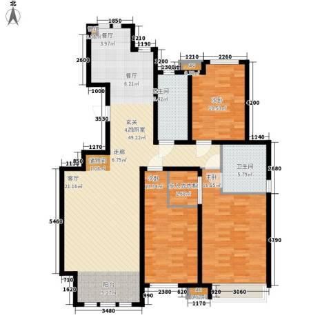 泰达御海3室0厅2卫0厨137.00㎡户型图