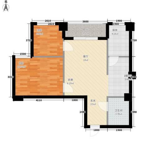 东苑新城二期2室0厅1卫1厨79.00㎡户型图