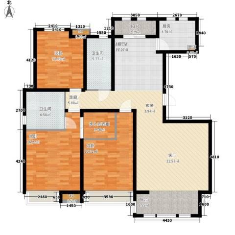 泰达御海3室0厅2卫1厨150.00㎡户型图