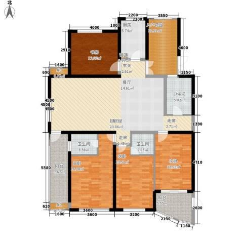 滨江果园避寒度假山庄4室0厅3卫1厨179.00㎡户型图