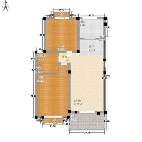 欧洲城2室0厅1卫1厨100.00㎡户型图