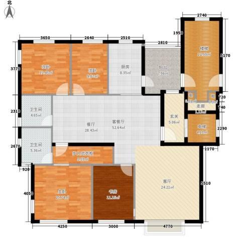 现代生活广场4室1厅2卫1厨218.00㎡户型图