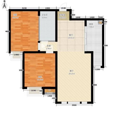 泰达御海2室0厅1卫1厨99.00㎡户型图