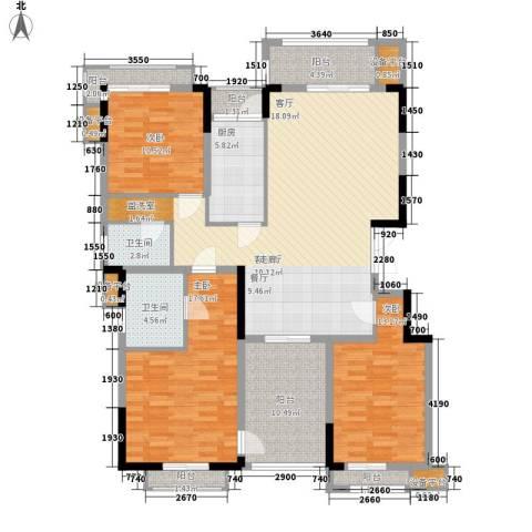 百悦尚城3室1厅2卫1厨169.00㎡户型图