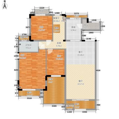 百悦尚城3室1厅1卫1厨188.00㎡户型图