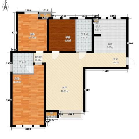 泰达御海3室0厅2卫0厨130.00㎡户型图