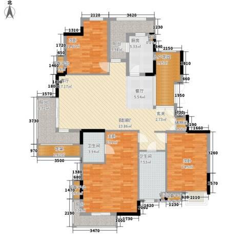 百悦尚城3室1厅2卫1厨191.00㎡户型图