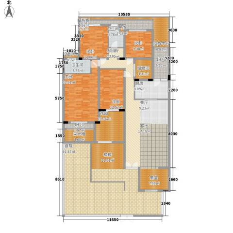 百悦尚城4室1厅2卫1厨348.00㎡户型图
