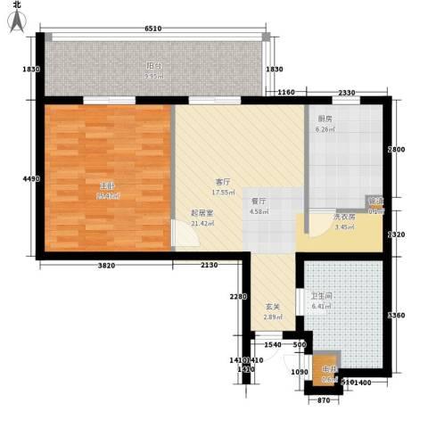 尊域1室0厅1卫1厨86.00㎡户型图