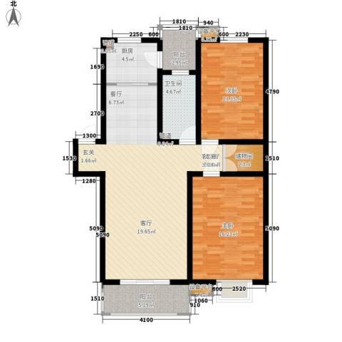 山川文苑二期2室1厅1卫1厨102.00㎡户型图