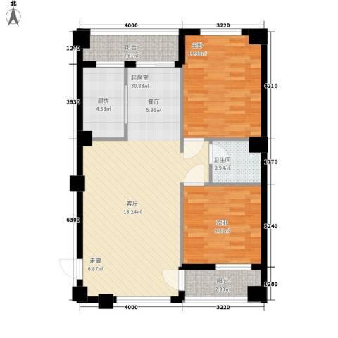 东苑新城二期2室0厅1卫1厨95.00㎡户型图