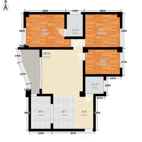 东苑新城二期3室0厅2卫1厨130.00㎡户型图