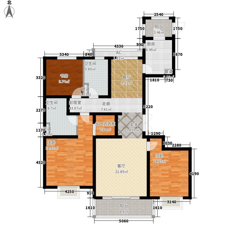 青岛新世界140.00㎡两位E户型3室2厅