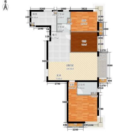 天津湾海景雅苑3室0厅2卫1厨141.00㎡户型图
