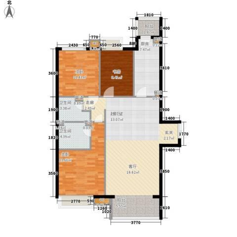 天津湾海景雅苑3室0厅2卫1厨133.00㎡户型图