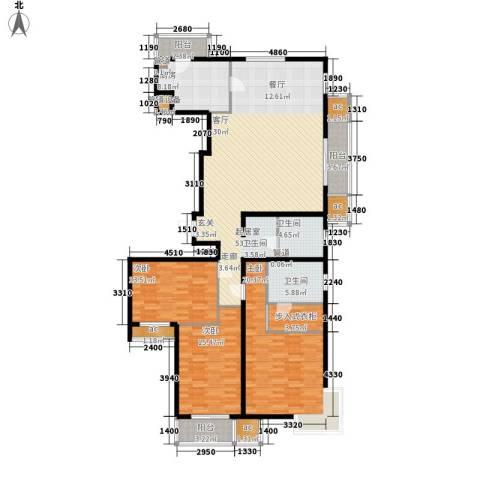 天津湾海景雅苑3室0厅2卫1厨196.00㎡户型图