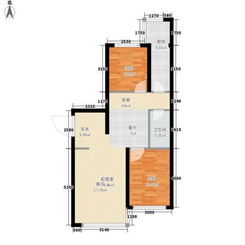 九江丽都2室0厅1卫1厨89.00㎡户型图