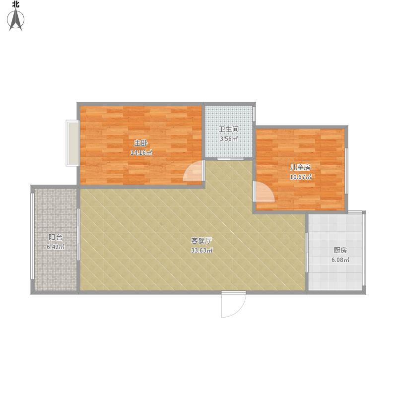 东莱花园二幢202室。