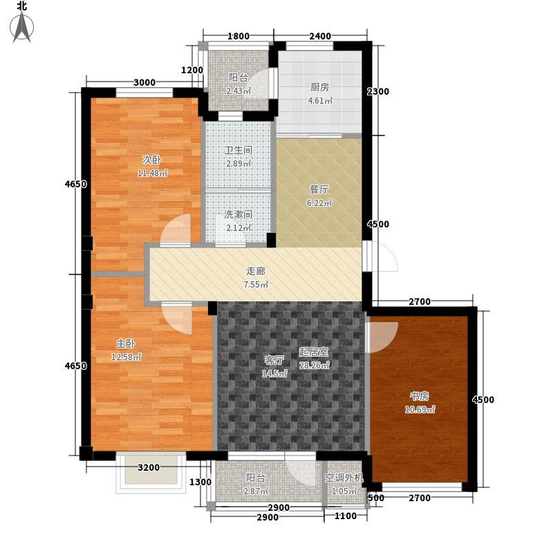 世界湾102.88㎡A户型3室2厅