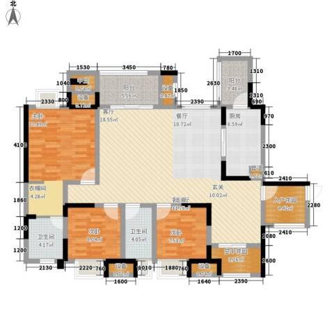 融创御锦3室1厅2卫1厨118.00㎡户型图
