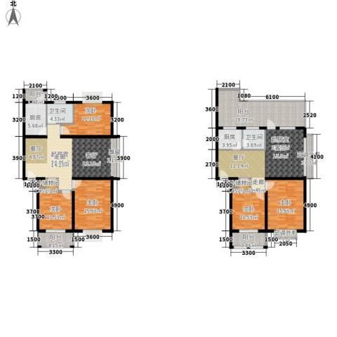 华府世家5室0厅2卫2厨181.13㎡户型图