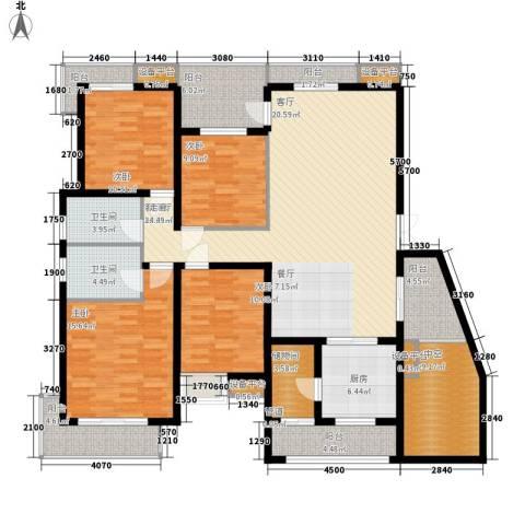 百悦尚城4室1厅2卫1厨203.00㎡户型图