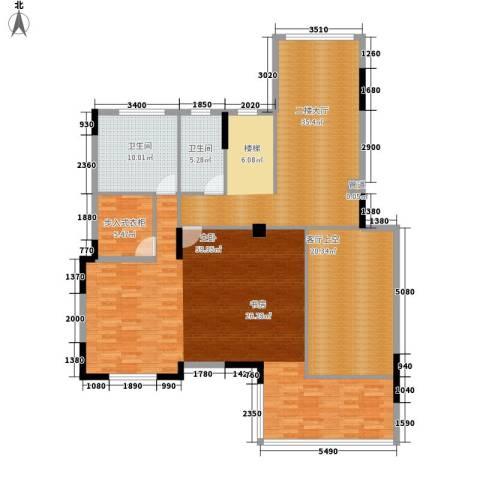 中核・缇香名苑1室0厅2卫0厨187.00㎡户型图