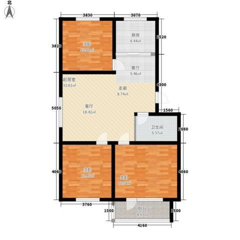 贵和花园三期3室0厅1卫1厨105.00㎡户型图
