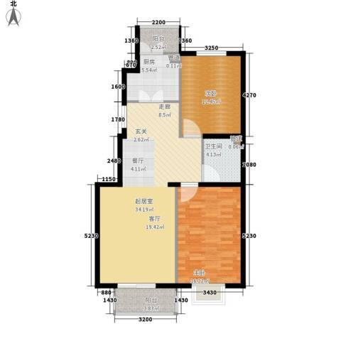 御景龙湾2室0厅1卫1厨110.00㎡户型图