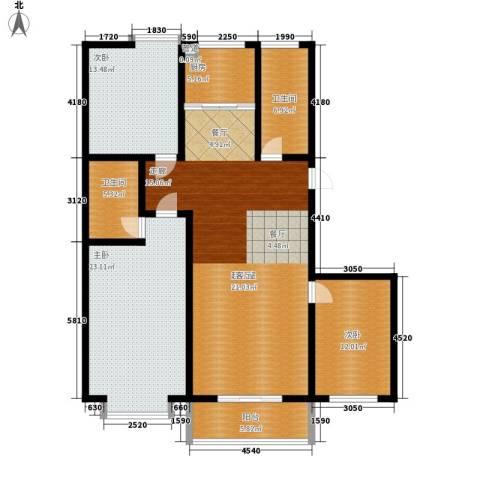 贵和花园三期3室0厅2卫1厨133.00㎡户型图