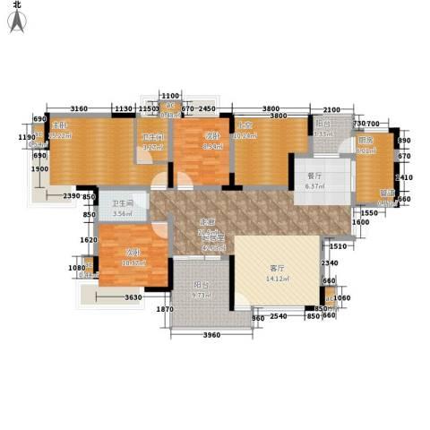 金科绿韵康城3室0厅2卫1厨114.79㎡户型图