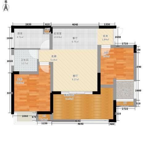 森望滟澜湖2室0厅1卫1厨94.00㎡户型图
