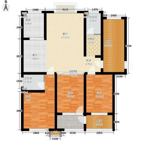 明泉馨居3室0厅2卫1厨123.00㎡户型图