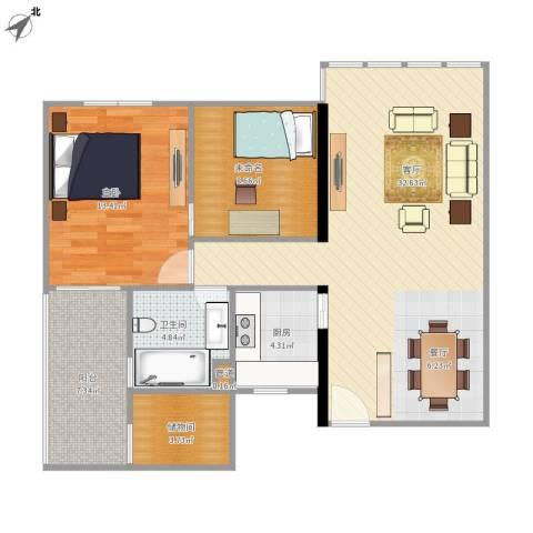 华敏大厦1室1厅1卫1厨102.00㎡户型图