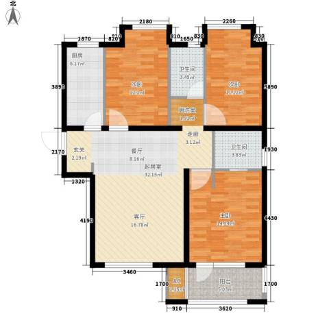 荣盛阳光逸墅3室0厅2卫1厨97.00㎡户型图
