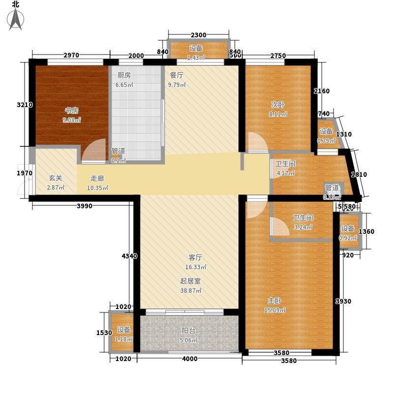 龙腾国际花园135.05㎡14#楼B3户型3室2厅