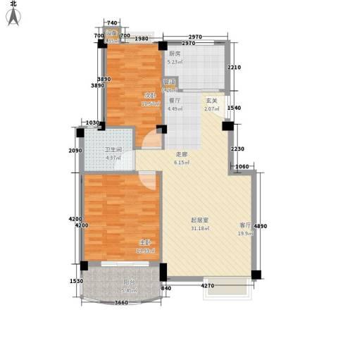胥口新村2室0厅1卫1厨87.00㎡户型图