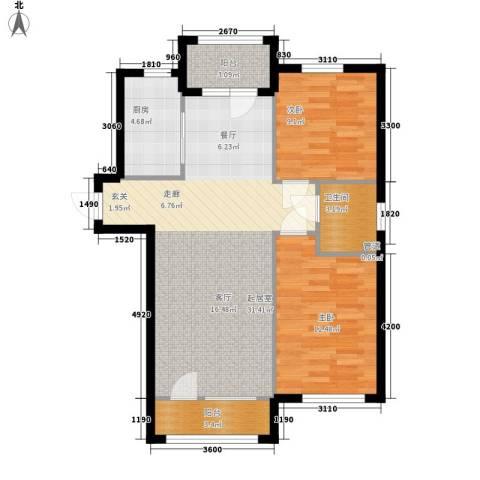 富虹太子城2室0厅1卫1厨95.00㎡户型图