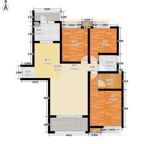 千林世纪城3室0厅2卫1厨132.00㎡户型图