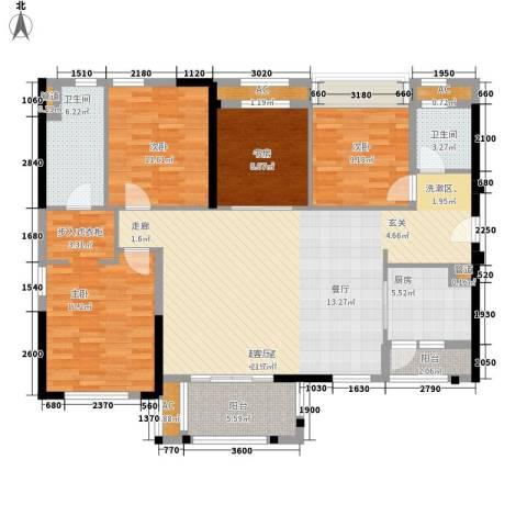万科 城市风景4室0厅2卫1厨164.00㎡户型图