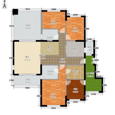 建业森林半岛4室1厅2卫1厨167.00㎡户型图
