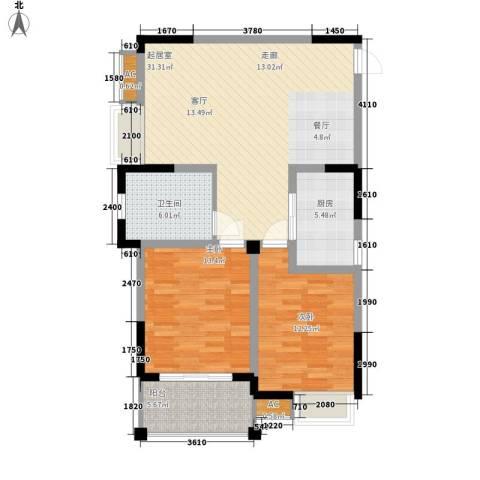钜和天乐苑2室0厅1卫1厨85.93㎡户型图
