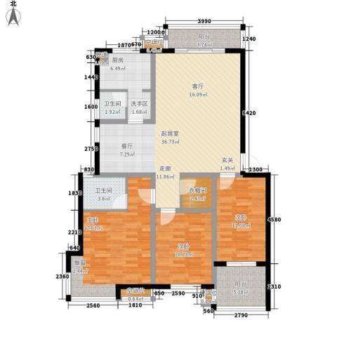 万煦园3室0厅2卫1厨117.00㎡户型图