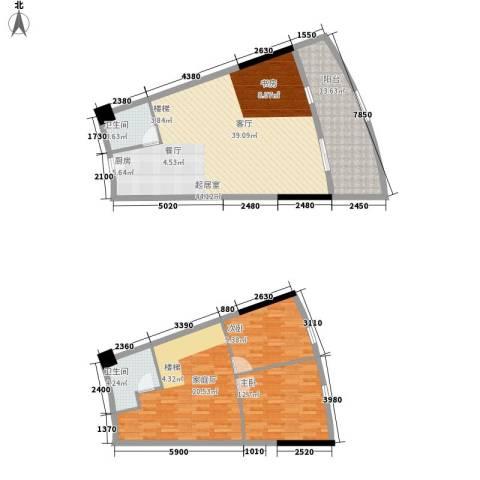 海韵华庭2室0厅2卫0厨150.00㎡户型图