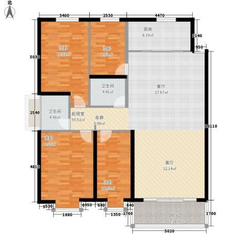 亨泰龙海山庄4室0厅2卫1厨148.00㎡户型图
