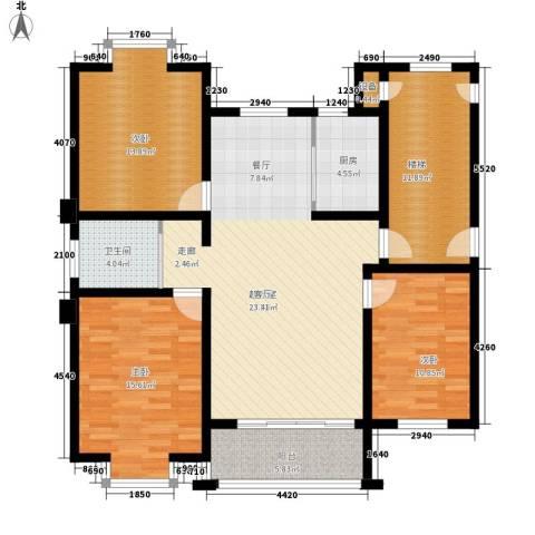时代天骄3室0厅1卫1厨114.00㎡户型图