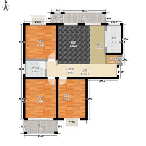 华府世家3室0厅1卫1厨106.00㎡户型图