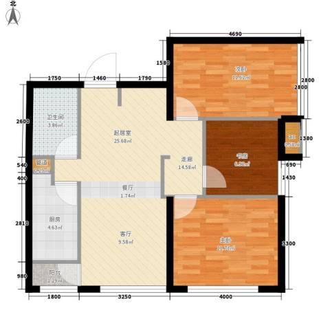 假日国际3室0厅1卫1厨102.00㎡户型图